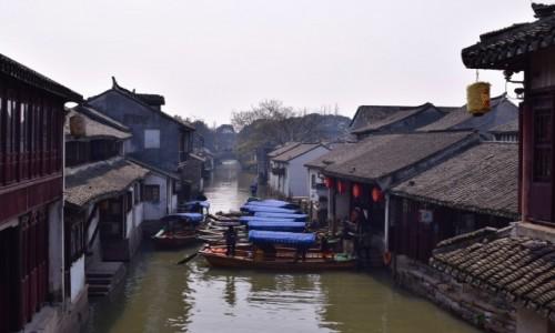 Zdjęcie CHINY / Szanghaj / Zhouzhuang / Wodne miasto