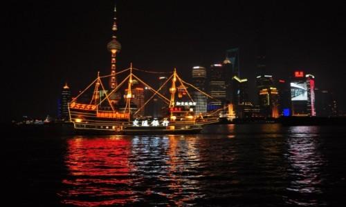 Zdjecie CHINY /  Zhongshan Dong Yi Lu  / Stoj�c na Pudong / Patrz�c na Bund