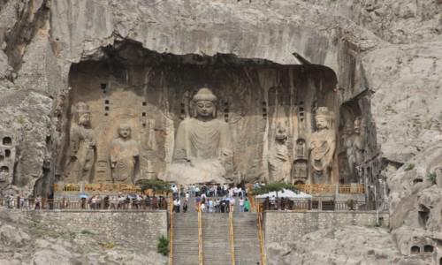 Zdjecie CHINY / Henan / Luoyang / Longmen Grottoe