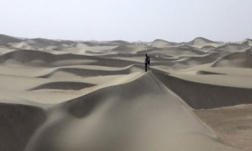 Zdjecie CHINY / Xinjiang / Taklamakan / pustynia