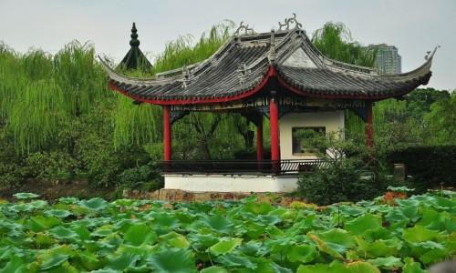 Zdjęcie CHINY / prowincja Jangsu / ogrody Wuxi / Domek