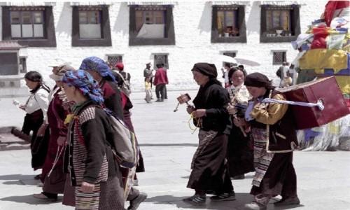 Zdjecie TYBET / Tybeta�ski Region Autonomiczny / Lhasa / Przemierzaj�c k