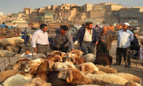 Zdjecie CHINY / Xinjiang / Kashgar / Bazar
