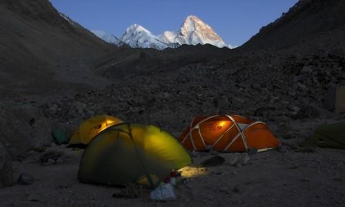 Zdjecie CHINY / Karakorum / Lodowiec K2 / Pakistani Base