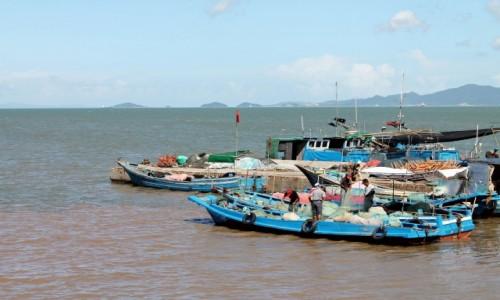 Zdjecie CHINY / - / Ningbo  / Chi�ski port ry