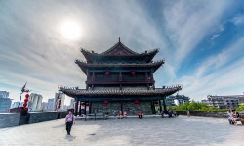 Zdjecie CHINY / Shaanxi / Xian / Mur obronny Xian
