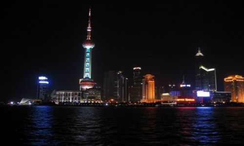 Zdjecie CHINY / brak / Chiny, Shanghai / Shanghai nocą..