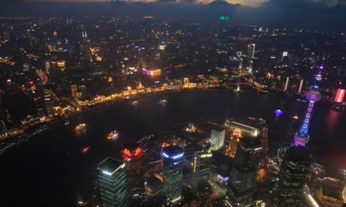 Zdjecie CHINY / Shanghai / Shanghai / Widok z 118 pietra na Shanghai Tower