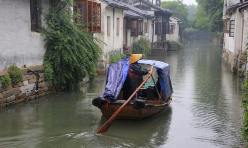 Zdjecie CHINY / Shanghai / Zhouzhuang / Chinska Venecja