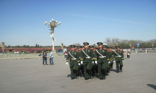 Zdjęcie CHINY / - / Pekin / Na Placu Niebiańskiego Spokoju - Tiananmen