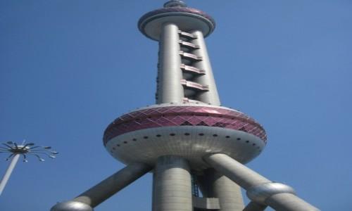 Zdjęcie CHINY / - / Szanghaj / Oriental Pearl Tower w Szanghaju (Chiny) - 468 metrowa wieża telewizyjna