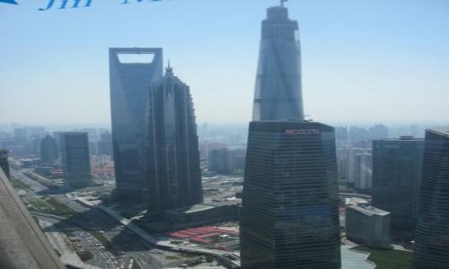 Zdjecie CHINY / - / Szanghaj / Widok z Oriental Pearl Tower w Szanghaju