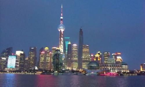 Zdjecie CHINY / - / Szanghaj / Szanghaj nocą