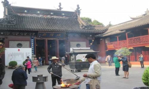 Zdjecie CHINY / - / Szanghaj / Świątynia Nefrytowego Buddy