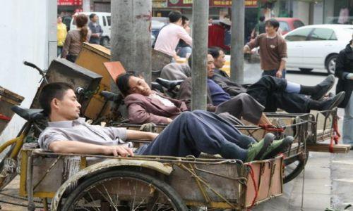 Zdjęcie CHINY / brak / Chengdu / pracowici Chinczycy