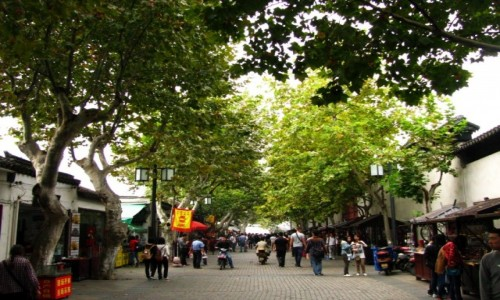 CHINY / prowincja Jiangsu / Suzhou / ulice Suzhou