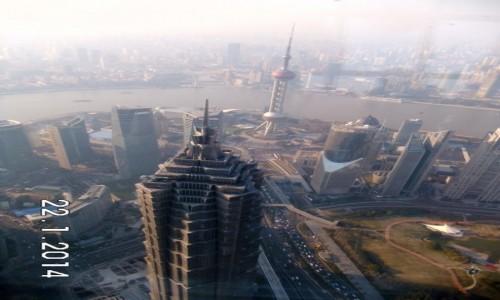 Zdjecie CHINY / Shanghai / Wieżowiec / Widok z otwieracza
