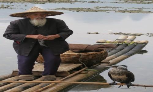 Zdjecie CHINY / Kanton / gdzie w drodze / rybak