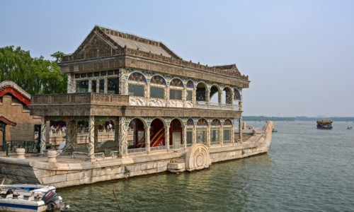 Zdjecie CHINY / - / Pekin / Marmurowa łódź Cesarzowej Cixi