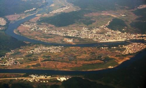 Zdjecie CHINY / prowincja Anhui / pokład samolotu Shanghai - Tunxi / Anhui z lotu ptaka