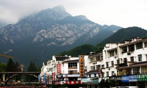 Zdjecie CHINY / prowincja Anhui / Tangkou / widok na Góry Żółte