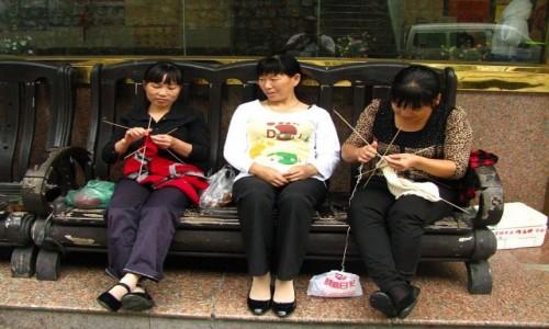 Zdjecie CHINY / prowincja Anhui / Tangkou / ręczne robótki