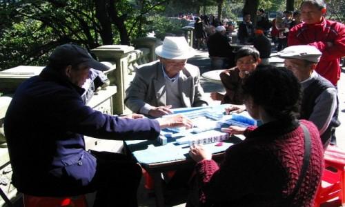 Zdjęcie CHINY / prowincja Jiangxi / Lu Shan / chińscy emeryci