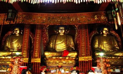 Zdjęcie CHINY / prowincja Jiangxi / Lu Shan / Świątynia Żółtego Smoka - detal