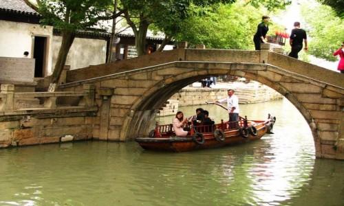 Zdjęcie CHINY / prowincja Jiangsu / Tongli / kanały Tongli