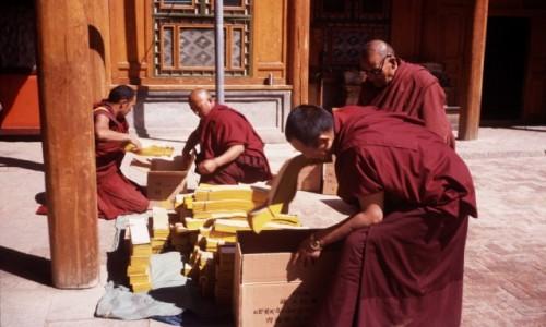 Zdjecie CHINY / GANSU / swiątynia / to będą księgi