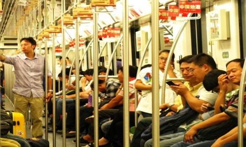 Zdjecie CHINY / Szanghaj / Szanghaj / w metrze