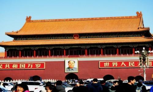 CHINY / Pekin / Tiananmen / Mao