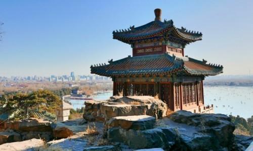 Zdjecie CHINY / Pekin / Pałac Letni / Na lodowisku