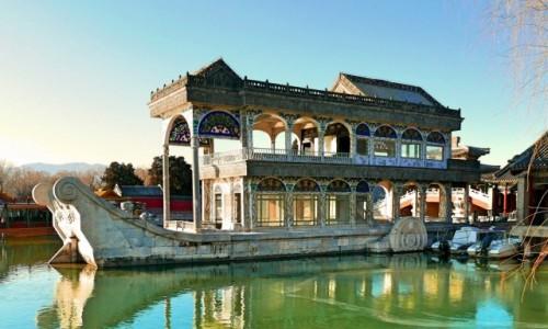 Zdjecie CHINY / Pekiin / Pałac Letni / Marmurowa łódź cesarzowej