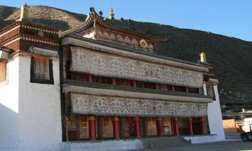 CHINY / brak / Xiahe- Prowincja Gansu / Jedna ze światyń klasztoru Labrang_