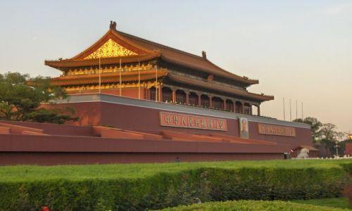 Zdjęcie CHINY / Pekin / Pekin / Brama na placu Tienanmenn
