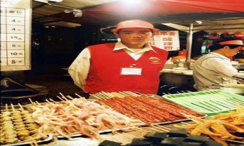 Zdjecie CHINY / brak / Pekin / nocny targ rzecz smacznych i mniej smacznych