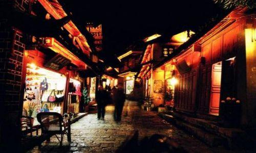 Zdjecie CHINY / brak / Lijiang / Lijiang nocą