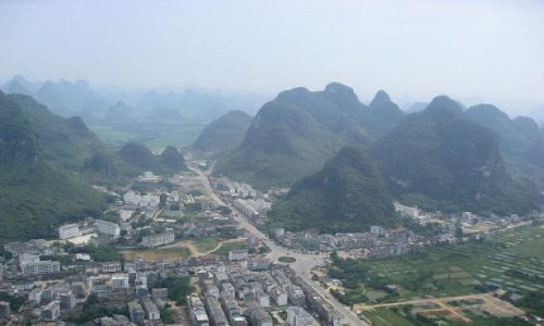 Zdjecie CHINY / brak / Yangshuo / Yangshuo ze wzgórza