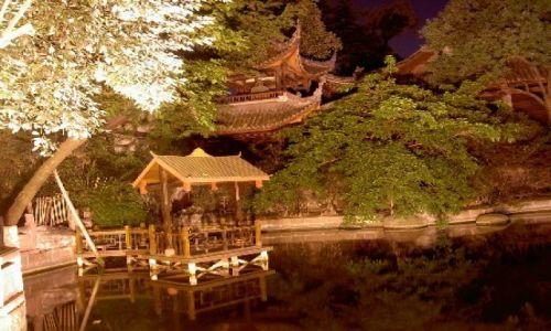 Zdjecie CHINY / Gansu / Lanzhou / miasto noca
