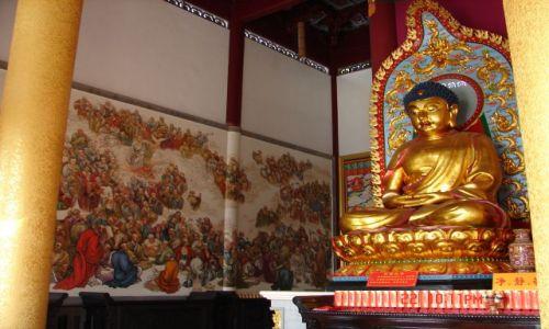 Zdjecie CHINY / GUANZOU / Nanning / Czyzby na scianie klasztoru byla droga krzyzowa