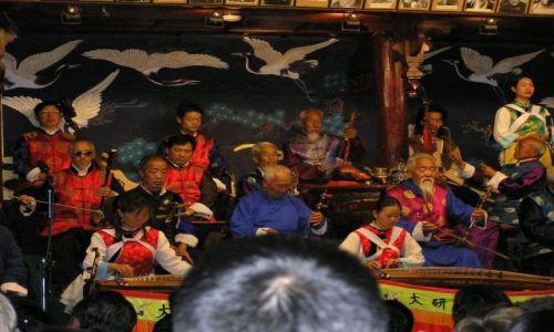 CHINY / południe Chin / Lijang / sławna orkiestra z Lijang