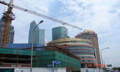 Zdjecie CHINY / Szanghaj  / Pudong / Pudong -- buduje sie nowe