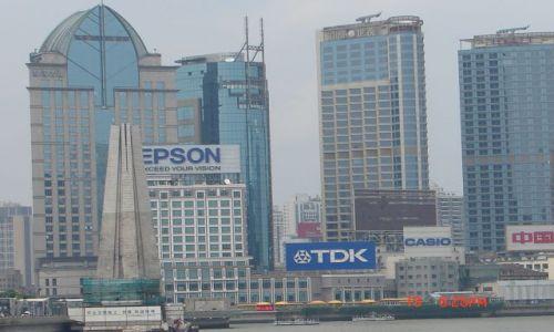 Zdjecie CHINY / Szanghaj  / Pudong / Reklamy