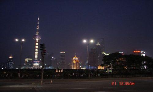 Zdjęcie CHINY / Szanghaj  / Pudong / Pudong noca