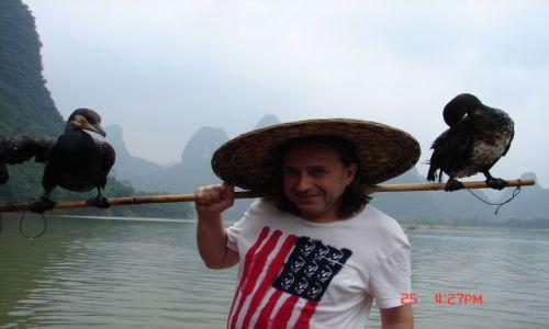 Zdjecie CHINY / Guangzo / Guilin / Kormorany i ja