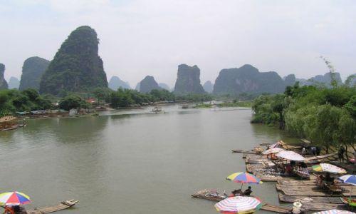 Zdjecie CHINY / poł.-zach. Chiny / Yangshuo / wzdłuż rzeki Li