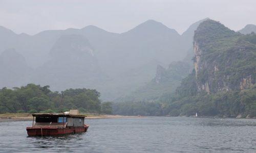 Zdjecie CHINY / Guangxi / XinPingTown / splyw rzeka Lee