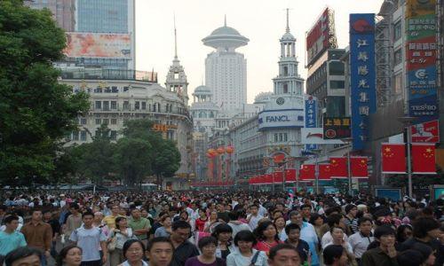 Zdjecie CHINY / Shanghai / Shanghai - Nanjing Road / Tak ich duzo i kazdy taki sam