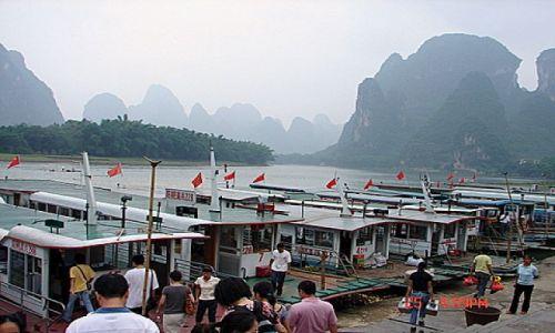 Zdjecie CHINY / Guilin / Rzeka Li / Przystan